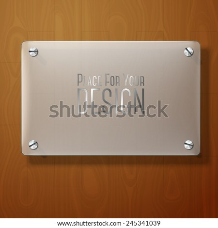vector frosted glass plate for
