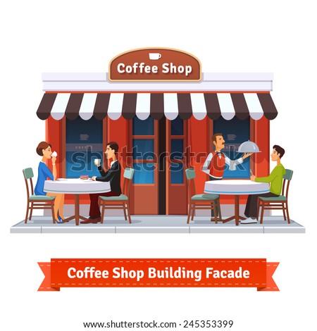 coffee shop building facade