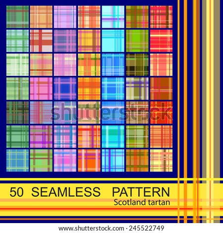 set from 50 seamless pattern of