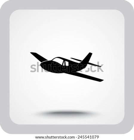 airplane sign icon  vector