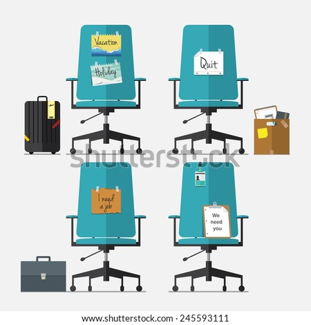 set of office chair in flat