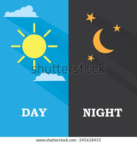 sun and moon  day and night