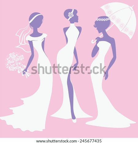 female silhouettes in wedding