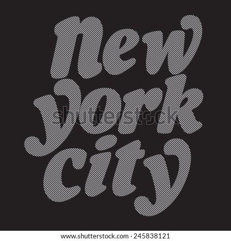 new york typography  t shirt
