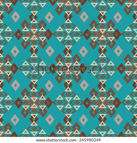 aztec tribal art colorful