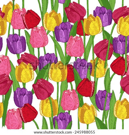 seamless pattern with spring