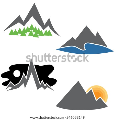 an image of a abstract mountain