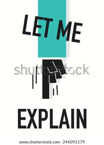 words let me explain