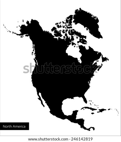 vector black maps of north