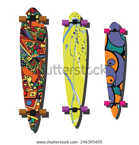 longboard design vector