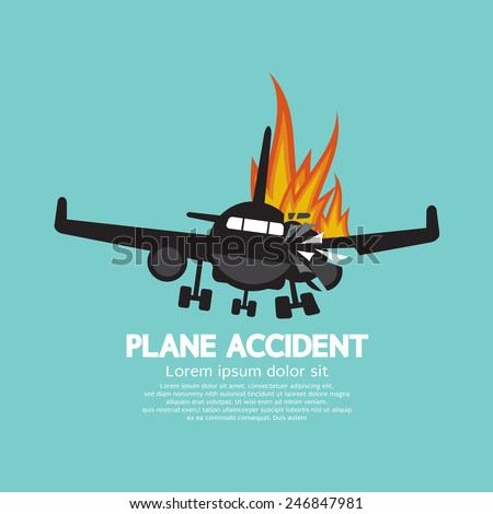 doomed plane accident on fire