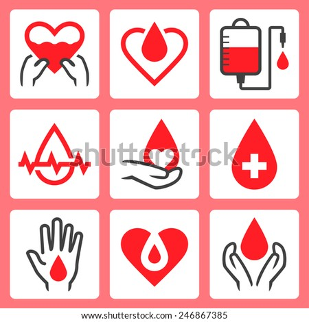 blood donation related vector