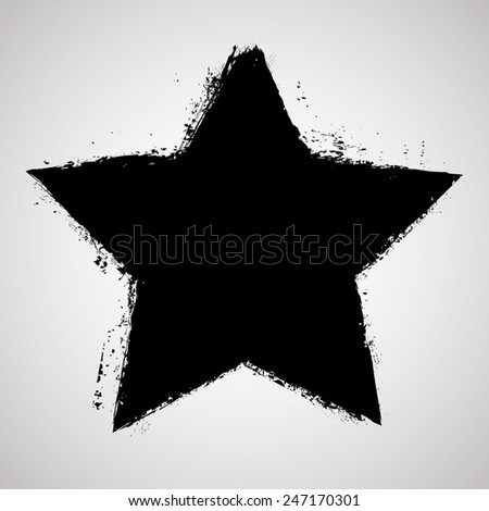 vector grunge star  distressed