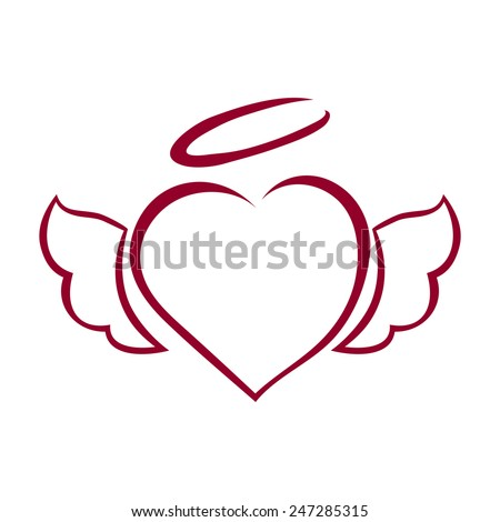 vector hand drawn heart with