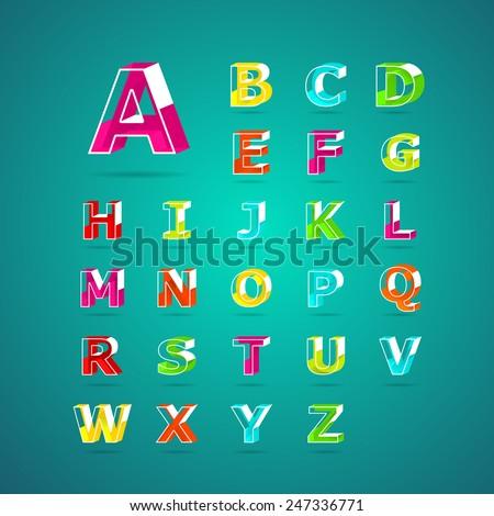 isometric alphabet fontcapital