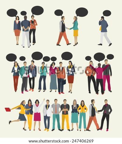 business people talk design
