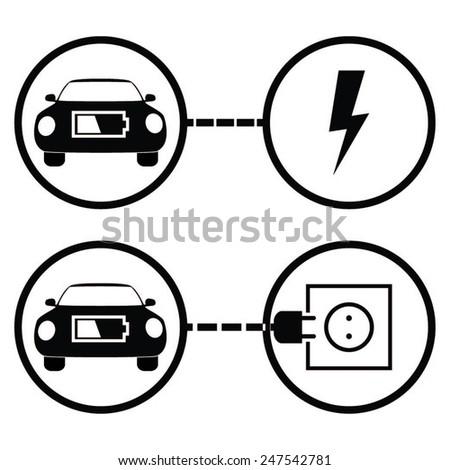 car charger station symbols