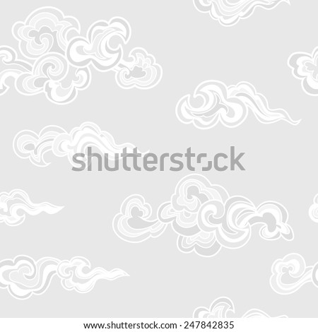chinese clouds seamless