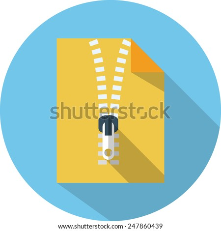 vector zip file flat icon