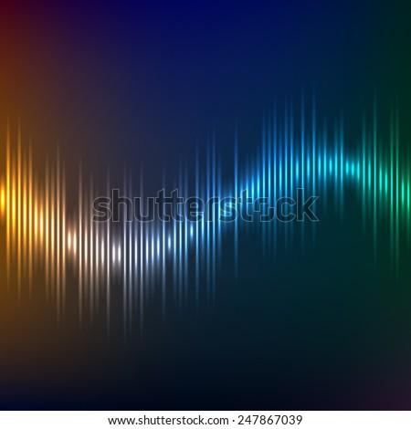 equalizer background vector