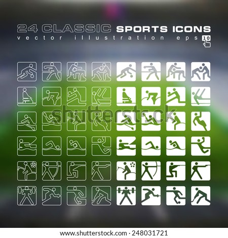 vector set of 24 classic linear