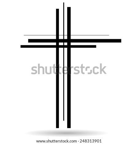 vector illustration of a cross