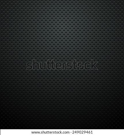 black metallic perforated plate