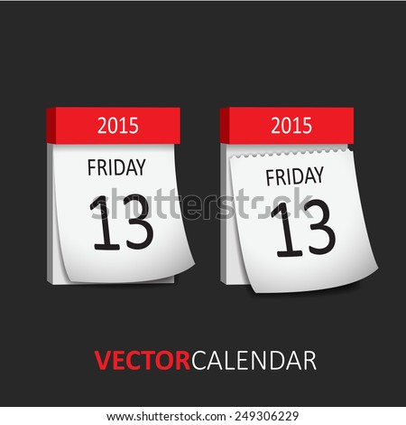 tear off calendar   friday 13th