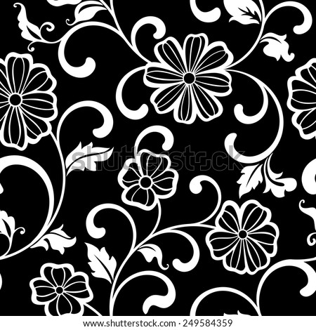 graphic seamless pattern with