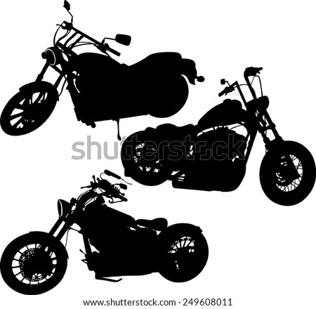 silhouette of a motorcycle