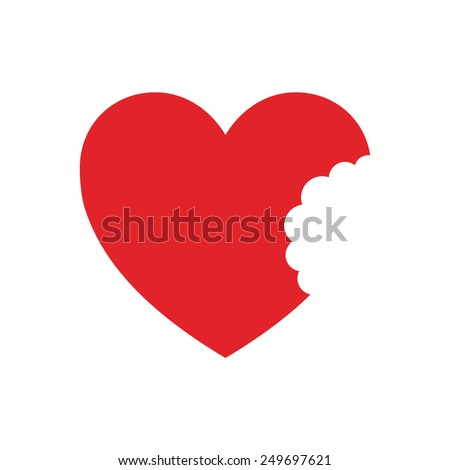heart with bite  vector