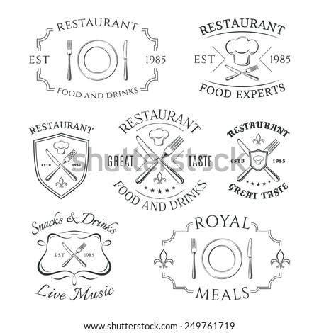 set of heraldic restaurant