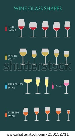 vector infographic of wine