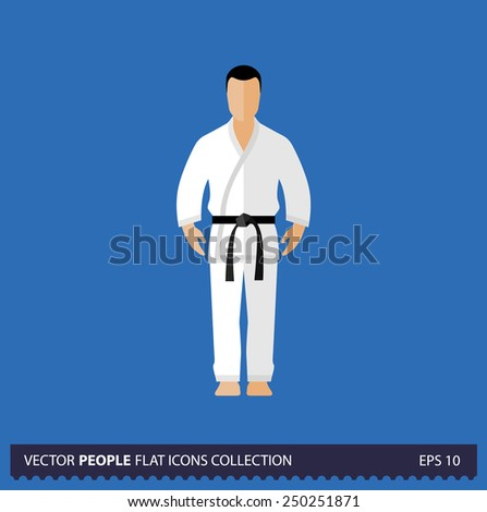 karate fighter character on