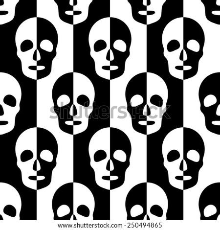 seamless skull and stripe