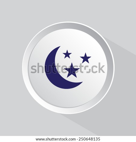 vector  moon and stars