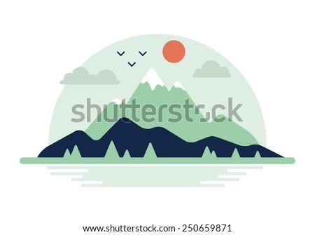 mountain landscape vector
