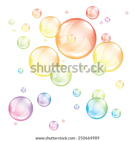 colored bubbles isolated on