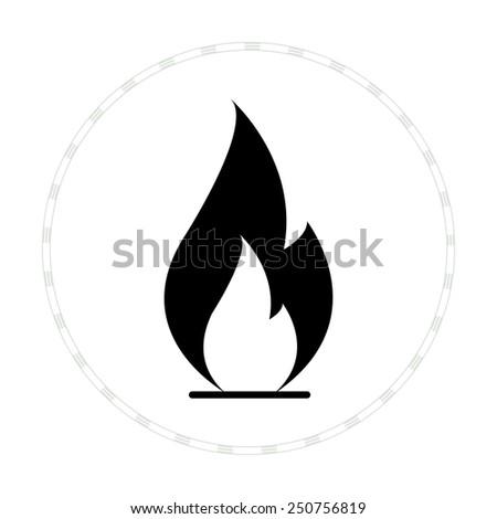 flame icon vector black