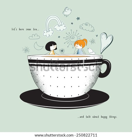 let's have tea   cute stick