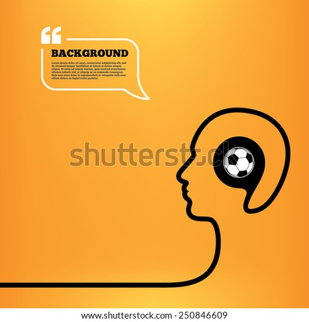 head think with speech bubble