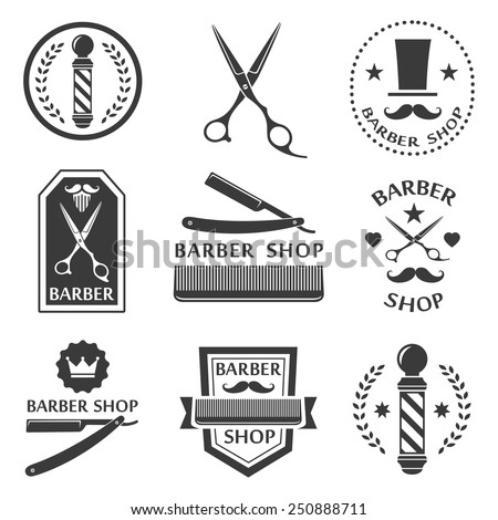 barber shop logo  labels