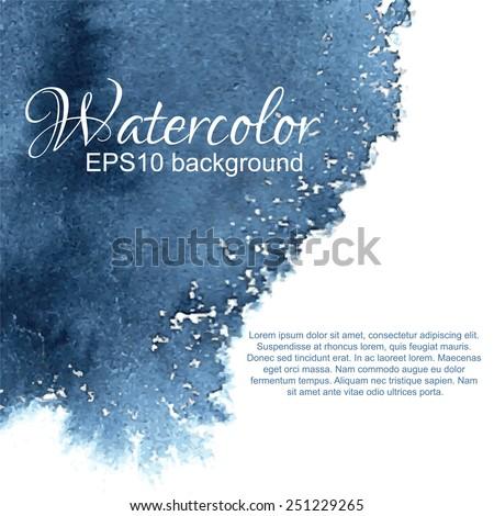 dark blue ornamental watercolor