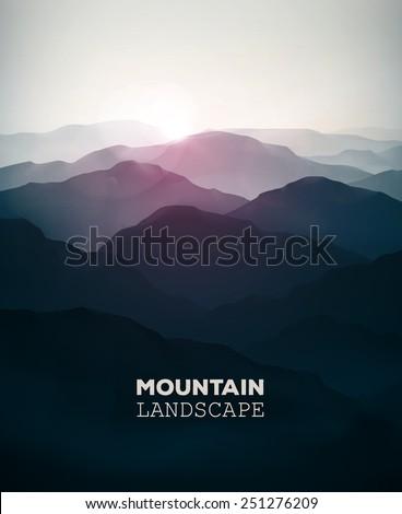 mountain background  landscape