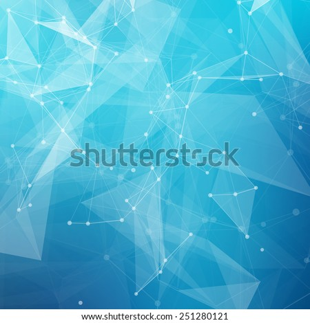 abstract low poly blue bright