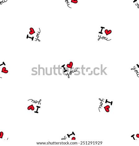 romantic doodle hearts cute