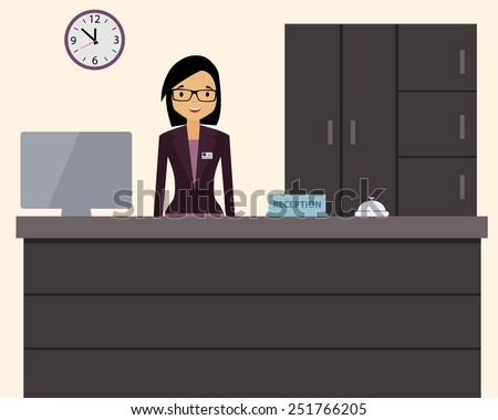 happy female receptionist