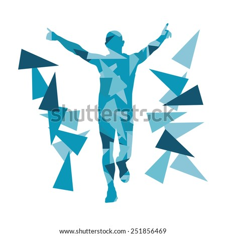 marathon runner abstract vector