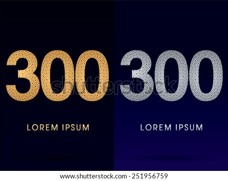 300 number  luxury font
