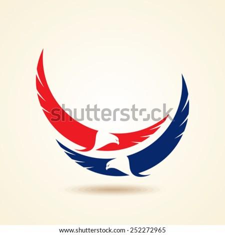 graceful soaring eagle logo